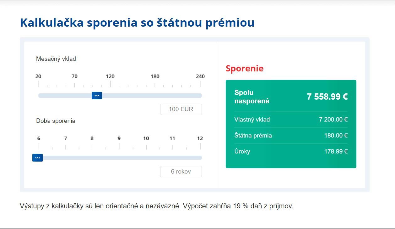 pss statna premia 100eur Dá sa veriť online kalkulačkám stavebného sporenia?